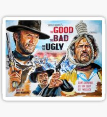 Clint Eastwood, Lee Van Cleef, The Good,The Bad & The Ugly movie poster Sticker