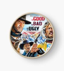 Clint Eastwood, Lee Van Cleef, The Good,The Bad & The Ugly movie poster Clock