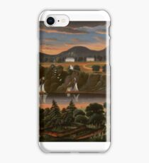Magnifying Glass View of Hudson River at West Point, homas Chambers iPhone Case/Skin