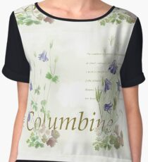 Aquilegia vulgaris Women's Chiffon Top