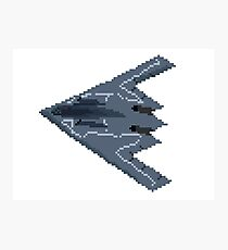 Pixel Art Stealth Bomber - The Kids' Picture Show Photographic Print