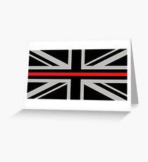 British Flag: Thin Red Line Greeting Card