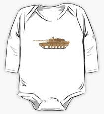 Pixel Art Tank - The Kids' Picture Show One Piece - Long Sleeve
