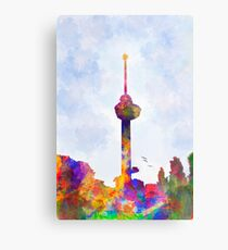 The Euromast of Rotterdam, the Netherlands Metal Print
