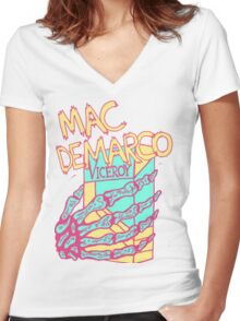 DeMarco  Women's Fitted V-Neck T-Shirt