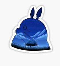 Totoro night sky  Sticker