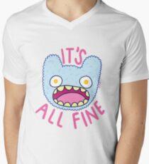 It's All Fine Men's V-Neck T-Shirt