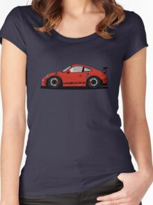 Porsche GT3 RS Red/Orange Women's Fitted Scoop T-Shirt