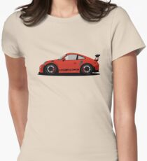 Porsche GT3 RS Red/Orange Womens Fitted T-Shirt