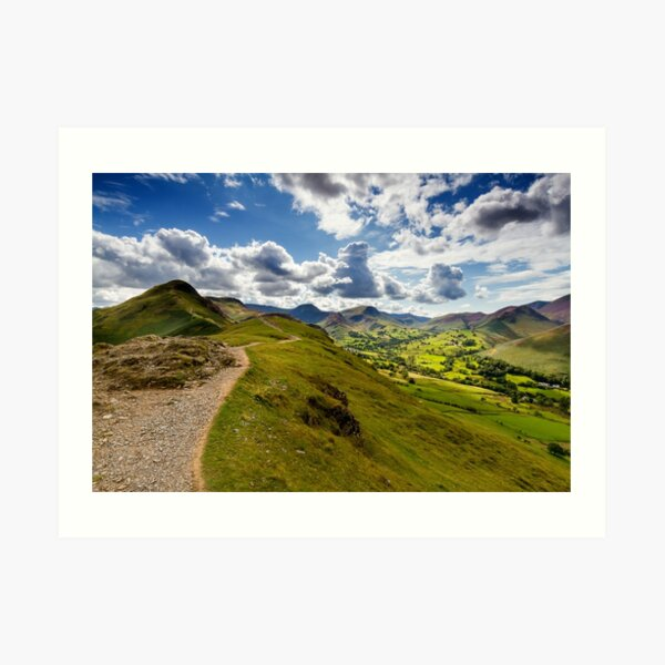 Cabells Walk and Newlands Valley Art Print
