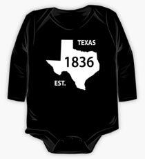 Texas Established 1836 One Piece - Long Sleeve