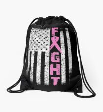 FIGHT BREAST CANCER Drawstring Bag