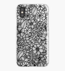 Black and White Floral iPhone Case