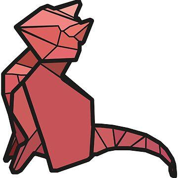 Origami Cat by StevePaulMyers