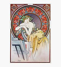 Alphonse Mucha - Girl With Easel Photographic Print