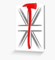 BRITISH FIREFIGHTER FLAG Greeting Card