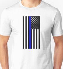 Police: Black Flag & Blue Line Unisex T-Shirt