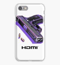 Bones- Pixel art Gun HDMI  iPhone Case/Skin