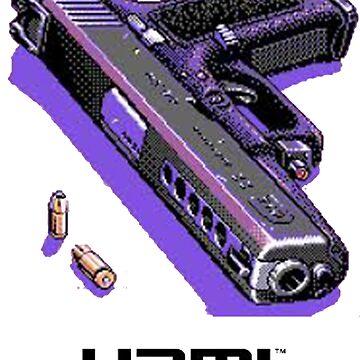 Bones- Pixel art Gun HDMI  by movesouth