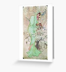 Alphonse Mucha - Winter Greeting Card