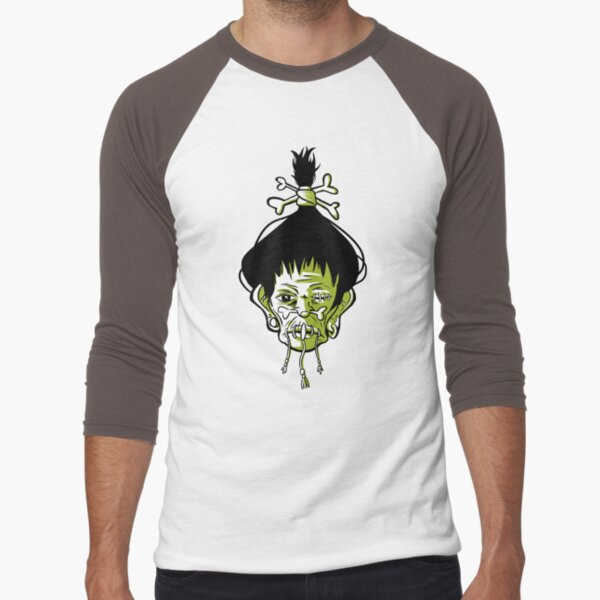 Voodoo Shrunken Head Tattoo Occult Baseball ¾ Sleeve T-Shirt