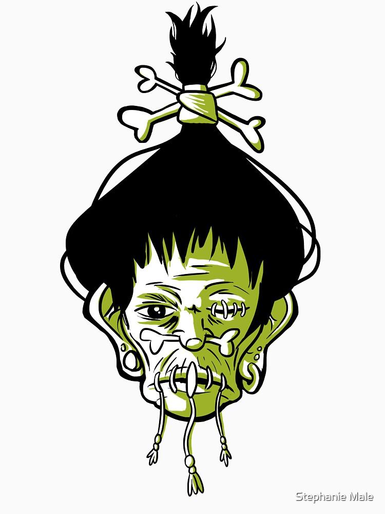 Voodoo Shrunken Head Tattoo Occult by steph68a