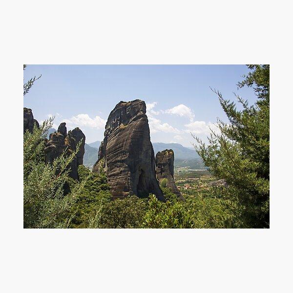 Meteora Pillars of Greece Photographic Print