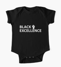 Black Excellence Fist White Kids Clothes