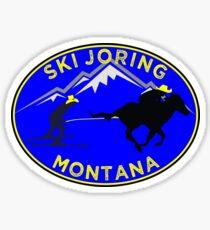 SKI JORING SKIJORING AMERICA MONTANA COWBOY SKIING SKIER Sticker