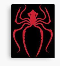 Navy: Spider-Man Squid Red Canvas Print