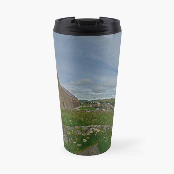 Glencolmcille Panorama with Church Travel Mug