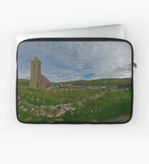 Glencolmcille Panorama with Church Laptop Sleeve