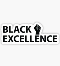 Black Excellence Fist Sticker