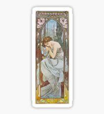 Alphonse Mucha - Nächtlicher Schlummer Sticker