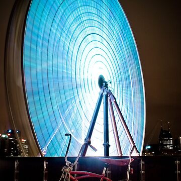 Little Red Pushbike meets Big Blue Ferris Wheel by biomechanic