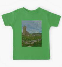 Glencolmcille Panorama with Church Kids Tee