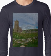 Glencolmcille Panorama with Church Long Sleeve T-Shirt