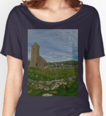 Glencolmcille Panorama with Church Women's Relaxed Fit T-Shirt