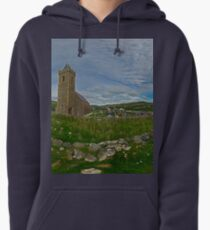 Glencolmcille Panorama with Church Pullover Hoodie