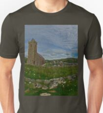 Glencolmcille Panorama with Church Unisex T-Shirt