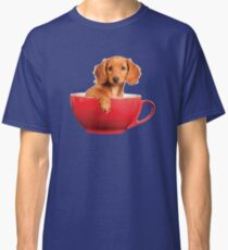 Puppy Dog in a Tea Cup Classic T-Shirt