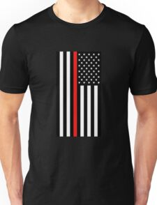 Firefighter: Black Flag & Red Line Unisex T-Shirt