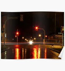 Portage Ave at Night Poster