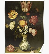 Ambrosius Bosschaert - Still Life With Flowers In A Wan-Li Vase, 1619 Poster