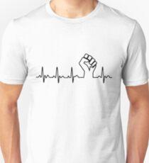 Black Fist Heartbeat Unisex T-Shirt