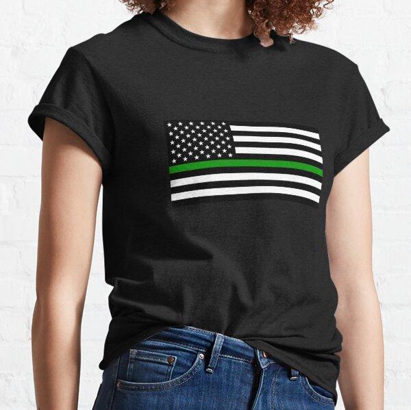 U.S. Flag: Thin Green Line Classic T-Shirt