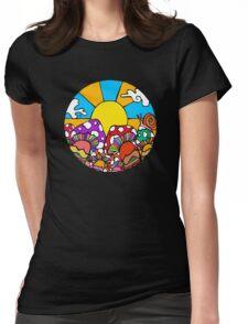 Sun Mushrooms Womens Fitted T-Shirt