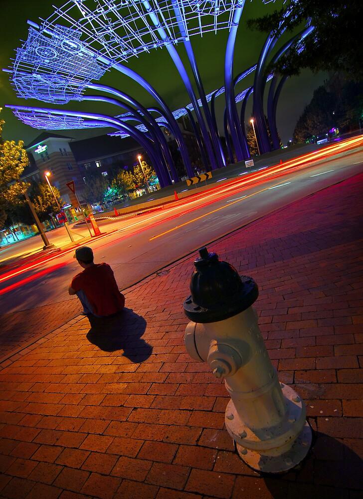 Town Circle's Night by Christian von Schleicher