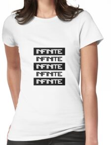 Infinite - Black and White Womens Fitted T-Shirt