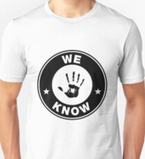 Skyrim - 'We Know' Dark Brotherhood Hand Print Unisex T-Shirt